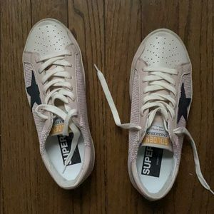 Golden goose pink with mesh